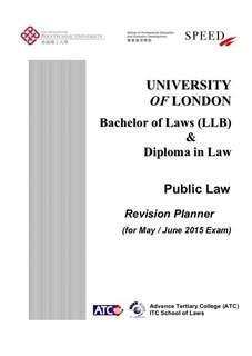 UOL LLB Public Law Revision Notes from Speed