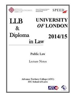 UOL LLB Public Law Lecture Notes from Speed