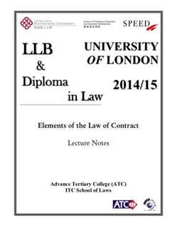 UOL LLB Contract Law Lecture Notes from Speed