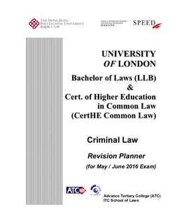 UOL LLB Criminal Law Revision Notes from Speed