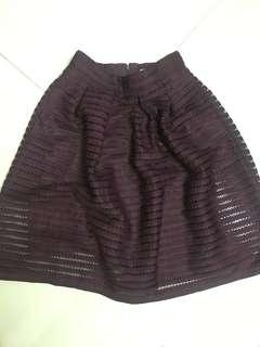 Forever 21 A-line purple skirt