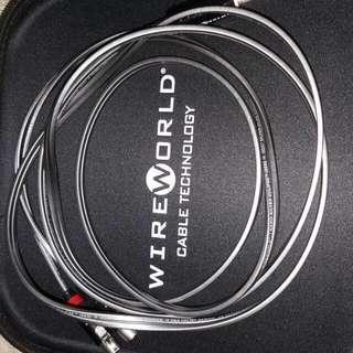 wireworld nano silver eclipse headphone cable for Audeze.