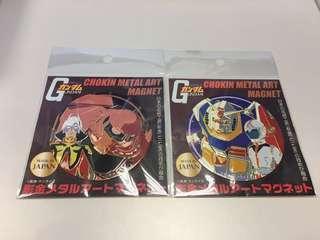 Gundam 0079 高達&紅慧星「彫金-七宝」珍藏鐵牌合共二個(日木制造)