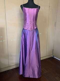 Purple Motif gown
