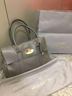 Mulberry bayswater tote (grey)
