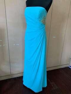Tube top sky blue Gown