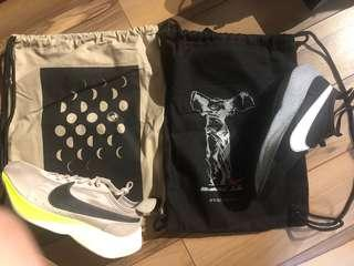 Two Nike moon Racer with dust bag  size9.5