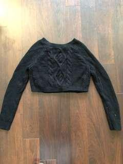 Cropped express knit sweater