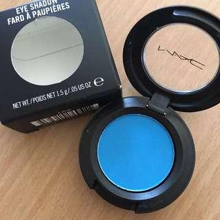 MAC blue eyeshadow