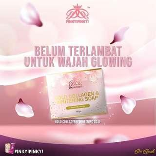 Pinky Pinky Gold Collagen & Whitening Soap