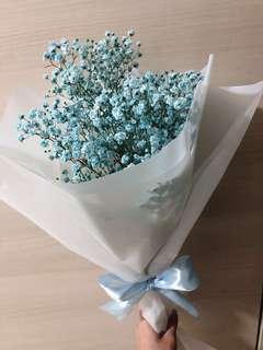 🚚 Blue Baby Breath Bouquet
