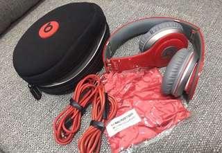 🚚 Beats solo紅色耳機