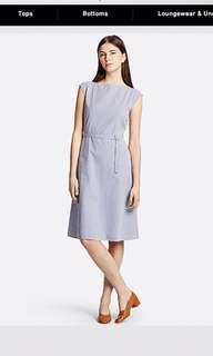 Uniqlo Stripes Belted Dress