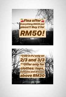 Flea weekend offer!