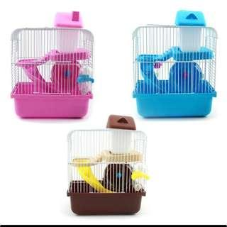Hamster cage double-deck