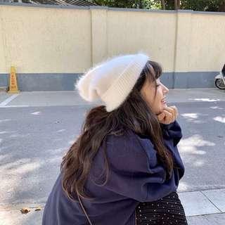[全新] 柔軟兔毛絨毛帽