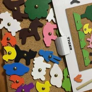 hammer pin set 松木小槌仔創意玩具