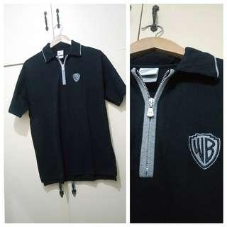 MA227 Warner Bros Studio Black Polo Shirt - Slightly Used