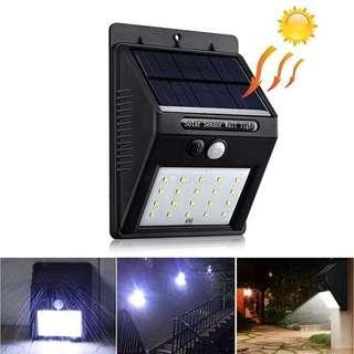 Motion Sensor Solar Power Led Light Lamp Wall Outdoor