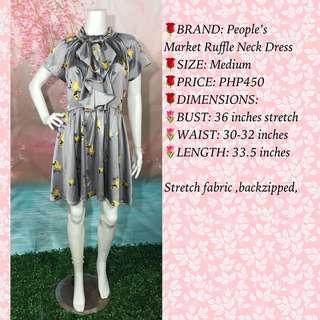 People's Market Ruffle neck dress