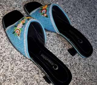Peranakan beaded sandals