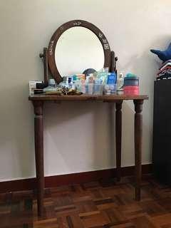 Vintage pencil leg vanity table / dressing table