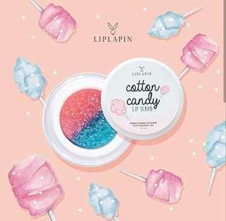 Liplapin Lip Scrub varian Cotton Candy, Scrub Bibir, Sugar Scrub, Kecantikan Bibir, Kesehatan Bibir, Liplapin Original