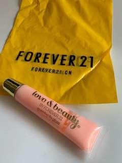 🚚 Forever21粉嫩色唇蜜
