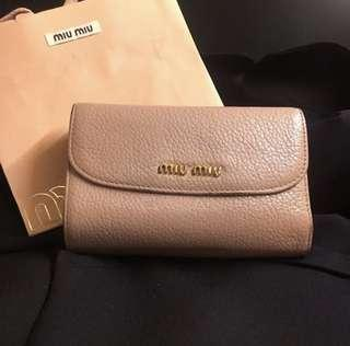 Miu Miu Dirty Pink Wallet