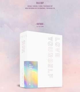 SECURED BTS Love Yourself Tour DVD Blu-Ray