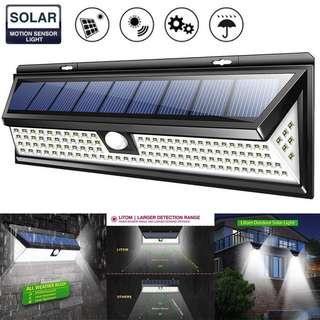118 LED Solar Power Lamp Waterproof Outdoor Garden Motion Sensor Wall Light
