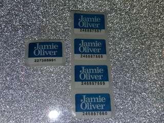 Jamie Oliver印花5個包郵( 或用pyrex惠康印花交換)