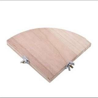 13CM Wood stand platform for hamster, chinchilla, bird, parrot and rats