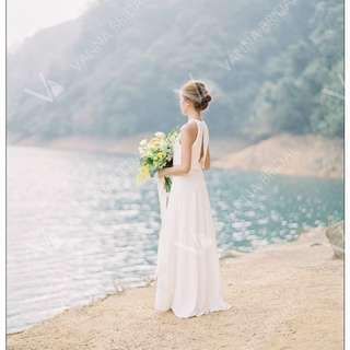 輕婚紗 外影 背心簡約婚紗 晚禮服