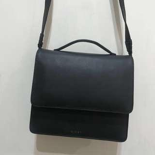 Tas kulit slempang wanita - 100% real leather + free pouch