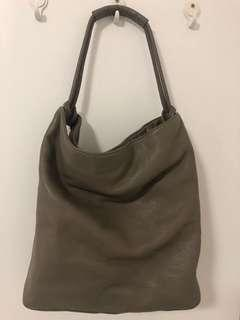 Oroton beige grey single strap bag