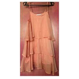 Preloved Mango Layered dress (USA S 2)