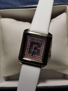 🚚 Pink Guess watch for ladies with brand new white strap