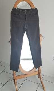 Dark green olive corduroy fitted pants from The Loft