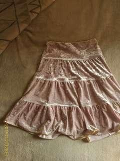 🚚 NET 粉色絨布裙
