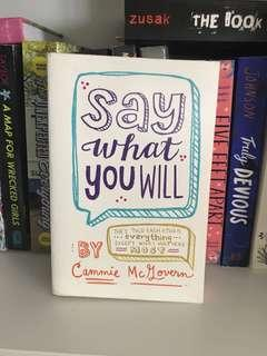 🚚 young adults books: say what you will by cammie mcgovern