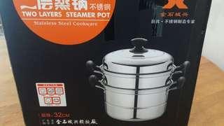 2 layers steamer pot