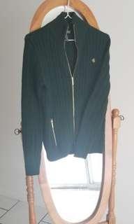 Ralph Lauren zip up sweater (Forest green)