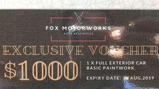URGENT SALE: $650 for $1k Fox Motorworks Outer car body respray