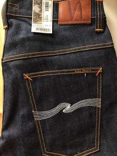 f597e41643 Nudie Jeans Thin Finn Dry Ecru Embo