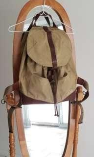 Lucky brand canvas and leather backpack