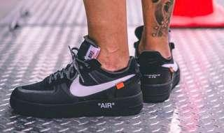 🚚 OFF-WHITE x Air force 1 Black