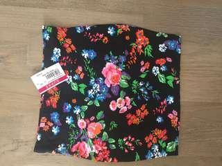 Bnwt size xxs floral mini skirt