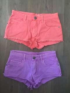 Size xxs 2 pairs of shorts $5! Excellent condition