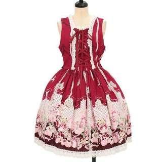 My Favorite Things あみあげジャンパースカート(紅色)(I型) Lolita JSK